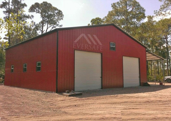40×41 Steel Garage with Lean-to
