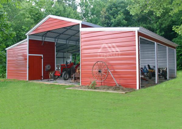 Vertical Roof Style Carolina Barn Custom Building