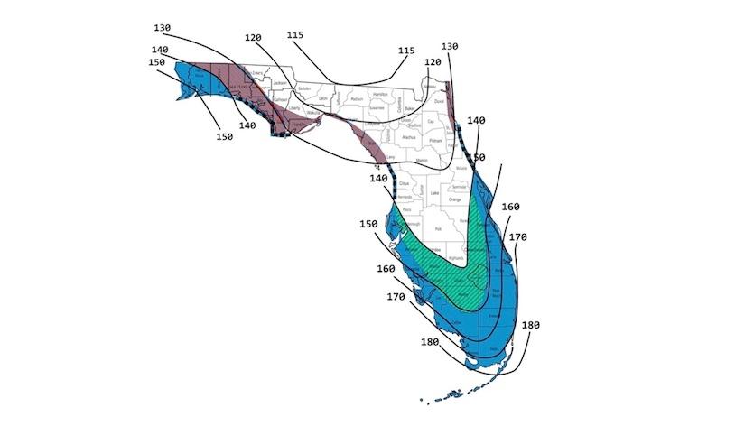 Florida Hurricane Chart