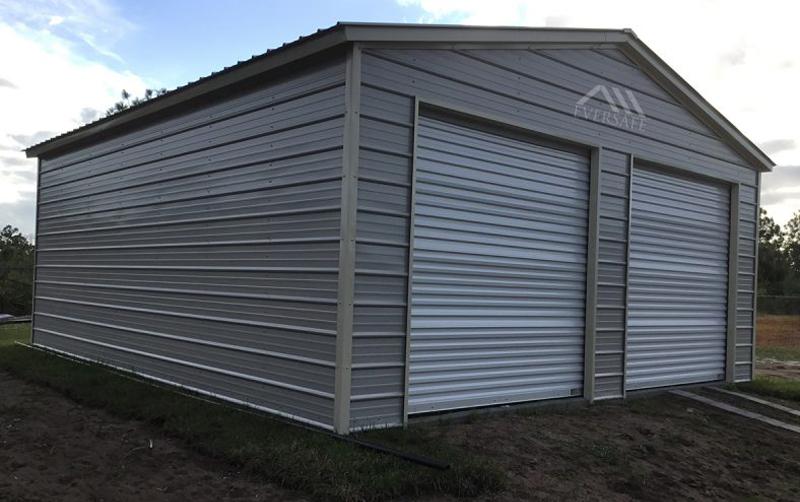 Two Car Garage Steel Building