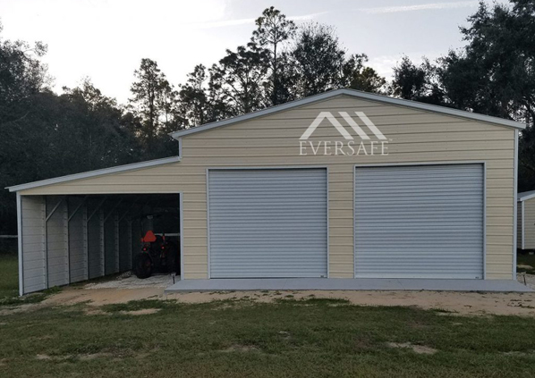 Two Car Garage with Lean-to