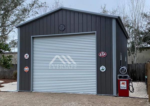 18x25 One Car Metal Garage