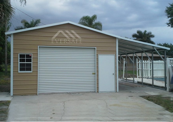 1 Car Garage with Lean-To